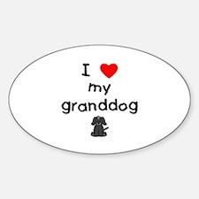 I love my granddog (4) Decal
