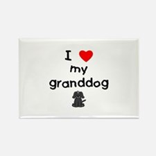 I love my granddog (4) Rectangle Magnet (100 pack)