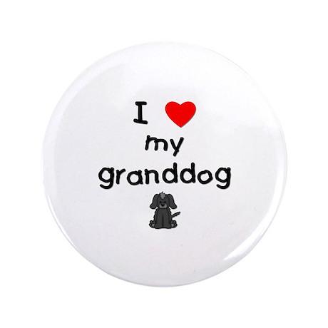"I love my granddog (4) 3.5"" Button (100 pack)"