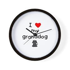 I love my granddog (4) Wall Clock
