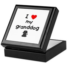 I love my granddog (4) Keepsake Box
