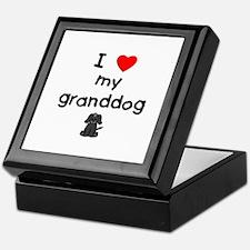 I love my granddog (4) Keepsake Box