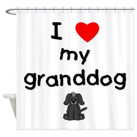 I love my granddog (4) Shower Curtain