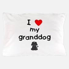 I love my granddog (4) Pillow Case