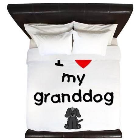 I love my granddog (4) King Duvet