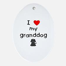 I love my granddog (4) Ornament (Oval)