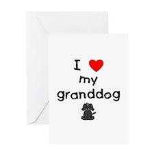 I love my granddog (4) Greeting Card