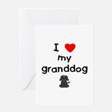 I love my granddog (4) Greeting Card