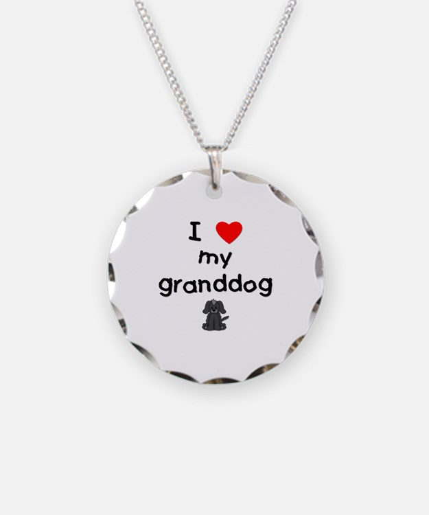 I love my granddog (4) Necklace