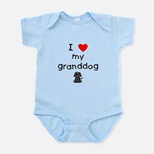 I love my granddog (4) Infant Bodysuit