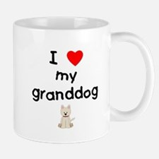 I love my granddog (westie) Small Mugs