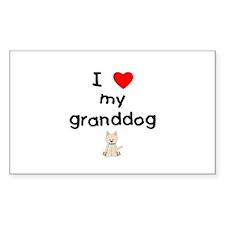 I love my granddog (westie) Decal