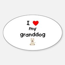 I love my granddog (westie) Decal