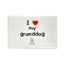 I love my granddog (westie) Rectangle Magnet