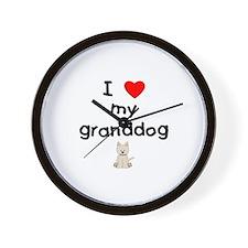 I love my granddog (westie) Wall Clock