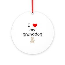 I love my granddog (westie) Ornament (Round)