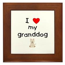 I love my granddog (westie) Framed Tile