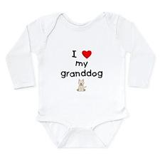 I love my granddog (westie) Long Sleeve Infant Bod