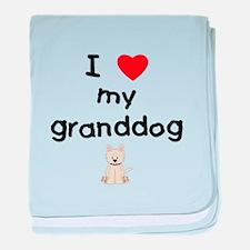 I love my granddog (westie) baby blanket
