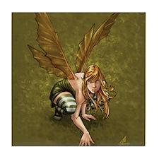 Crouching Fairy Tile Coaster
