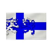 Finland Lion Flag Rectangle Magnet