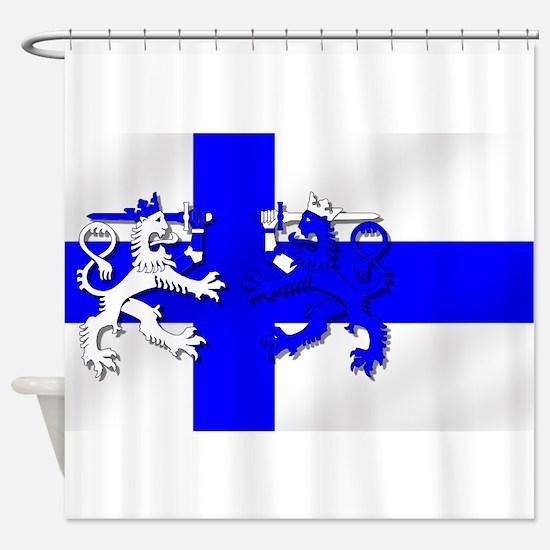 Finland Lion Flag Shower Curtain