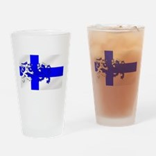 Finland Lion Flag Drinking Glass