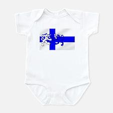 Finland Lion Flag Infant Bodysuit
