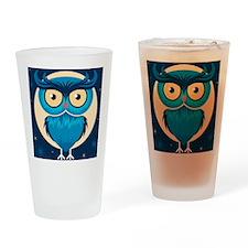 Cute Halloween Owl Drinking Glass
