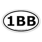 1BB Oval Bumper Sticker