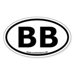 BB Oval Bumper Sticker