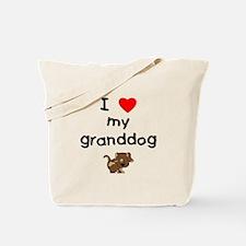 I love my granddog (5) Tote Bag