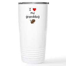 I love my granddog (5) Travel Mug