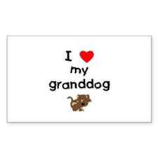 I love my granddog (5) Decal