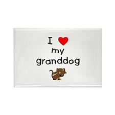I love my granddog (5) Rectangle Magnet