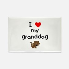 I love my granddog (5) Rectangle Magnet (10 pack)