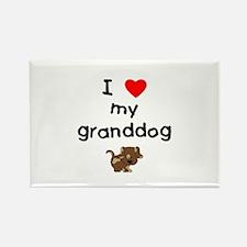 I love my granddog (5) Rectangle Magnet (100 pack)