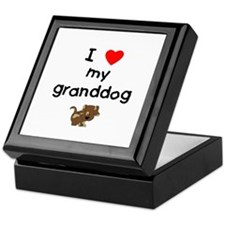 I love my granddog (5) Keepsake Box