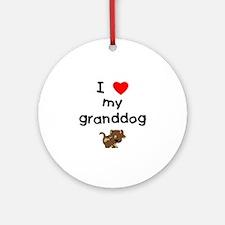 I love my granddog (5) Ornament (Round)