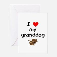 I love my granddog (5) Greeting Card