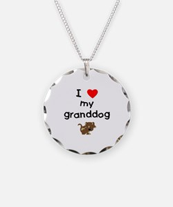 I love my granddog (5) Necklace