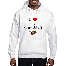 I love my granddog (5) Hoodie