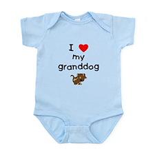 I love my granddog (5) Infant Bodysuit