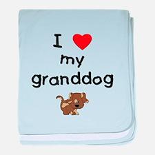 I love my granddog (5) baby blanket