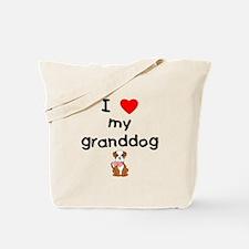I love my granddog (bulldog) Tote Bag