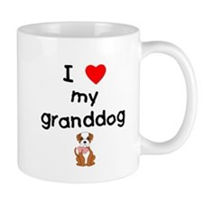 I love my granddog (bulldog) Mug
