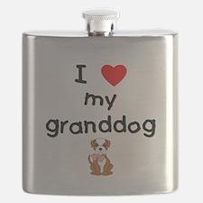 I love my granddog (bulldog) Flask