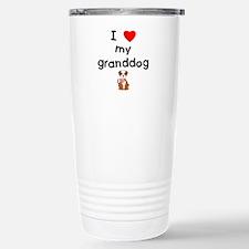 I love my granddog (bulldog) Travel Mug