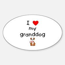 I love my granddog (bulldog) Decal
