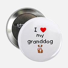 """I love my granddog (bulldog) 2.25"""" Button (100 pac"""